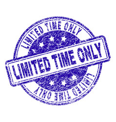 Scratched textured limited time only stamp seal vector