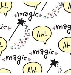 Seamless pattern with magic wands fantasy vector