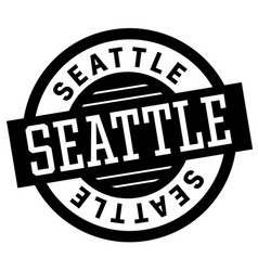 Seattle black and white badge vector