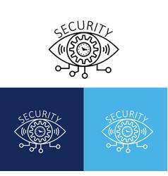 security design with eye logo vector image