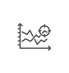 seo analysis line icon web targeting chart sign vector image