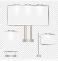 set of advertising vector image