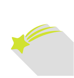 shooting star sign pear icon with flat style vector image