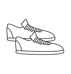 Silhouette fitness sneakers design icon vector