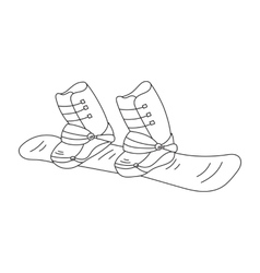 Snowboard line icon vector