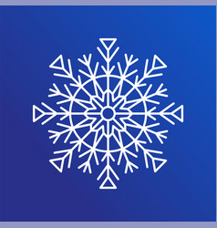 snowflake single icon on blue vector image