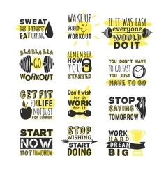 Sport motivation phrases vector image