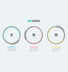 thin line element for infographics vector image