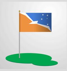 Tierra del fuego province argentina flag pole vector
