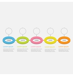 Timeline Five step Infographic Colorful circles vector image