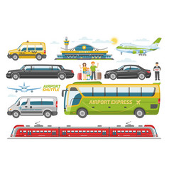 transport public transportable vehicle bus vector image