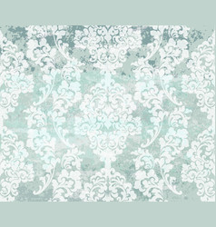 vintage damask blue background luxury vector image