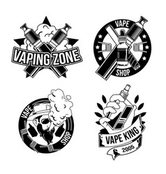 vintage vapes emblems labels badges logos vector image