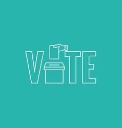 Vote icon vector