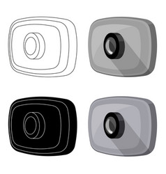 Webcam icon in cartoon style isolated on white vector