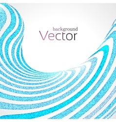 Abstract Business Background with Blue 3d Wave vector image