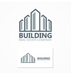 building icon or logo vector image vector image