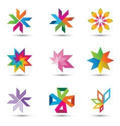 corporate design elements vector image vector image