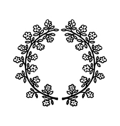 floral hand-drawn frame vector image