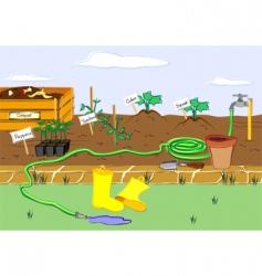 starter garden vector image vector image