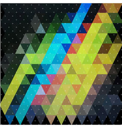Colorful triangle in night sky with plus star line vector image vector image