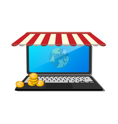 open laptop with and screen buy vector image