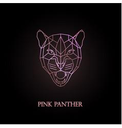 pink panther logo design vector image
