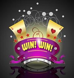 Gamble logo amblem vector image vector image