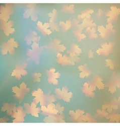 Grunge sky with autumn leaves EPS 10 vector image