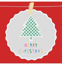 Merry Christmas greeting card51 vector image vector image