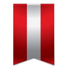 Ribbon banner - austrian flag vector