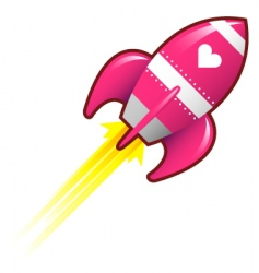 love rocket vector image vector image