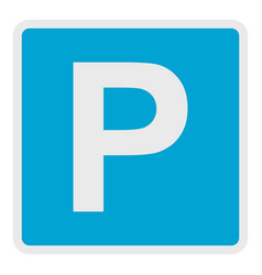 parking place icon flat style vector image
