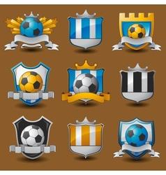 Soccer team emblems vector image