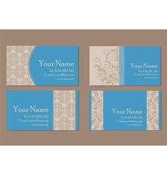 vizit cards blue vector image
