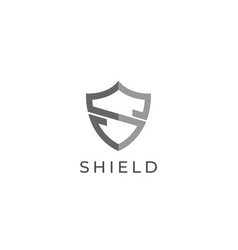 Abstract letter s shield shape logo design vector