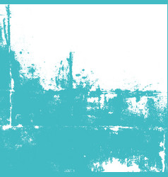 Abstract wall painted in turquoise color vector