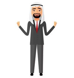 admiring extremely excited arab saudi business man vector image