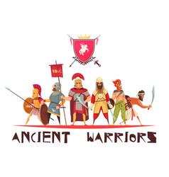 Ancient warriors concept vector