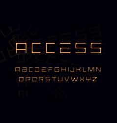 architect letters set geometric style alphabet vector image