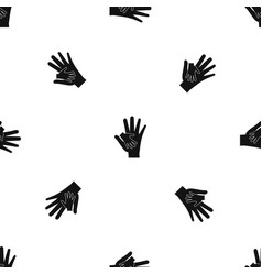 Baby and mother hand pattern seamless black vector