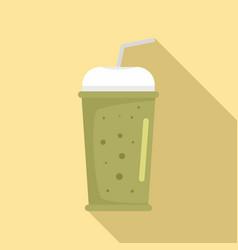 banana kiwi smoothie icon flat style vector image