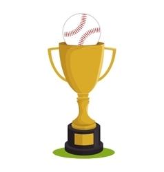 baseball trophy award sport vector image