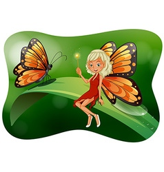Beautiful fairy with butterfly vector