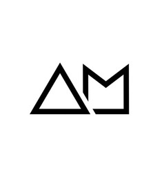 Black and white alphabet letter logo combination vector