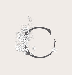 Blooming floral initial c monogram and logo vector