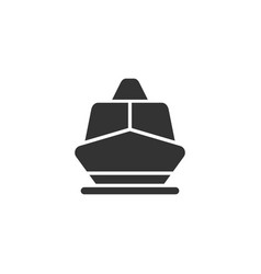 Boat front view glyph style icon vector