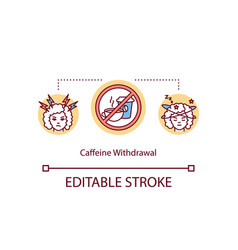 Caffeine withdrawal symptoms concept icon vector