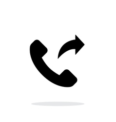 Call forwarding simple icon on white background vector