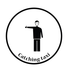 Catching taxi icon vector image